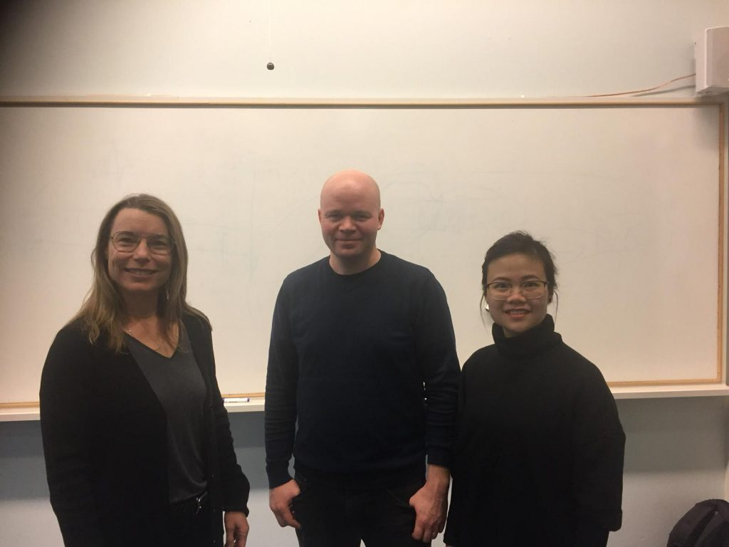An insightful lecture with professor Anna Aminoff and Otto Sormunen from VR group about Supply Chain strategy for sustainability